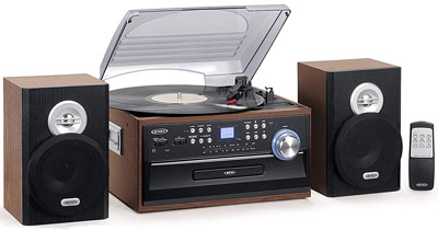2. Jensen 3-Speed Turntable Music System Limited Edition