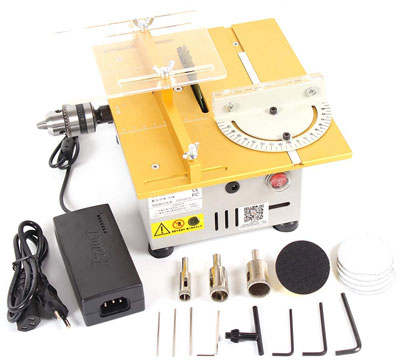 9. Multifunction Electric Polisher Grinder Mini Table Saw