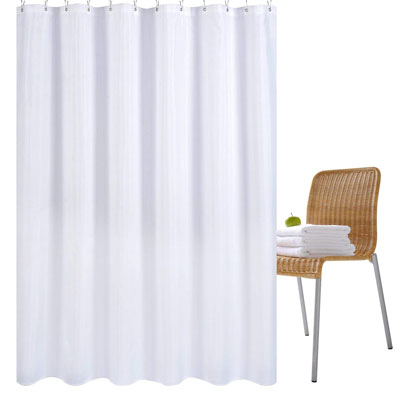7. Wimaha 72x72 Water-Repellent Shower Curtain Liner