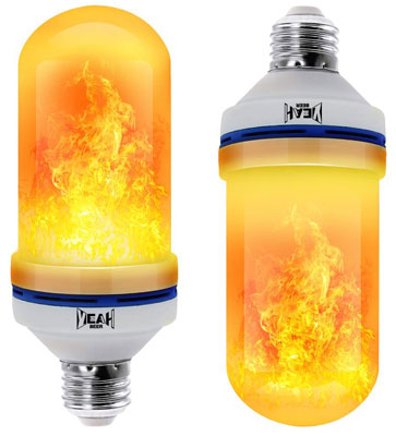 5. YEAHBEER LED Flame Light Bulb (2 Pack)