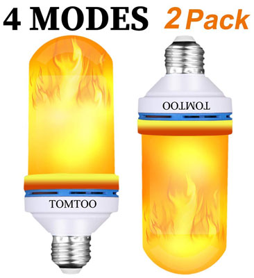 2. TOMTOO Flame Effect Light Bulb (2 Pack)