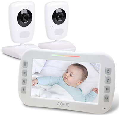 2. AXVUE E632 Video Baby Monitor with Two Cameras