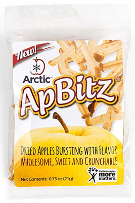 8. Arctic ApBitz Dried Apple Snacks – 0.75 oz (Pack of 12)