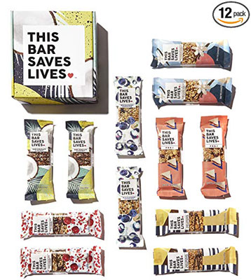 6. This Bar Saves Lives Granola Breakfast Bar – 12 bar Variety Pack