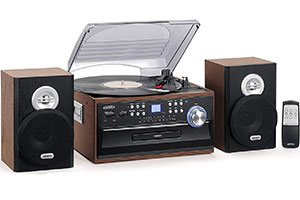 Turntable with Speakers