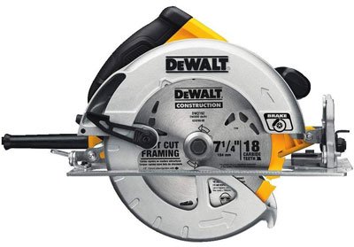 10. DEWALT 7-1/4-Inch Circular Saw with Electric Brake
