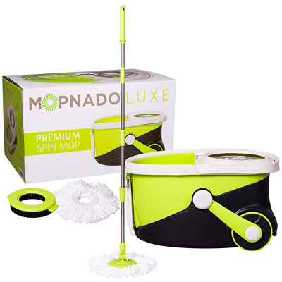 1. Mopnado Stainless Steel Rolling Spin Mop