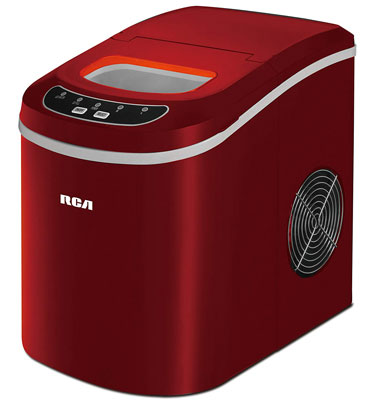 1. RCA Red Compact Ice Maker