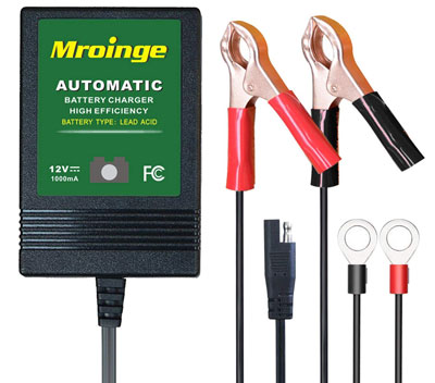 3. Mroinge 1A 12V Automotive Trickle Charger
