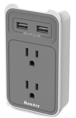 5. Huntkey SMD407 Dual USB Wall Mount Outlet