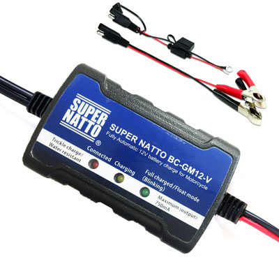 8. Supernatto 12V ATV Smart Battery Trickle Charger