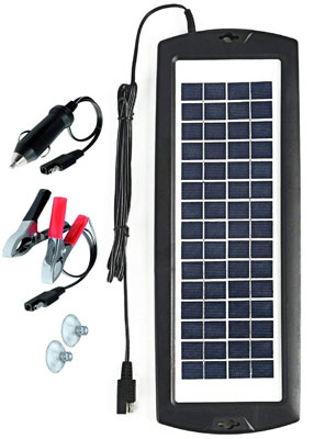 5. Sunway Solar 12V Battery Trickle Maintainer Charger