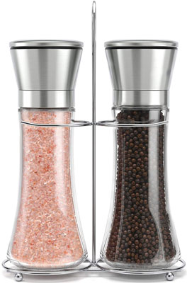 1. Willow & Everett Stainless Steel Pepper and Salt Grinder