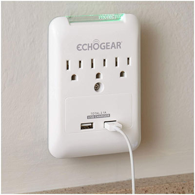 9. Echogear 2 Ports Low Profile USB Outlet