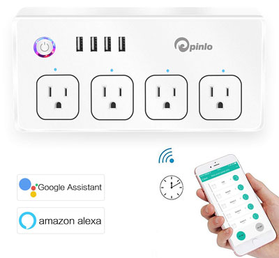 4. Pinlo 5-Foot Surge Protector Smart Power Strip
