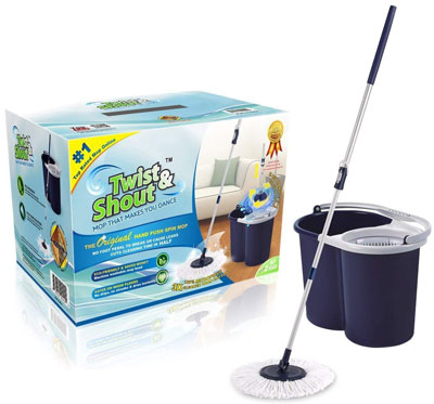5. Twist and Shout Hand Push Spin Mop