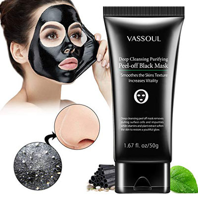 4. Vassoul Bamboo Activated Blackhead Remover Masks