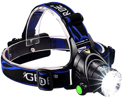 1. GRDE 3 Modes Super Bright LED Headlamp