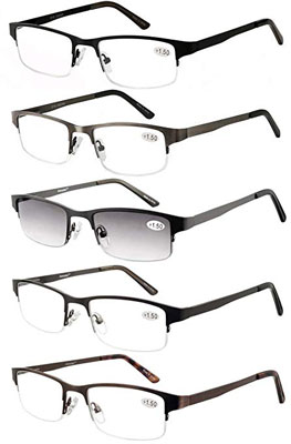 9. Eyecedar Half-Frame Metal Reading Glasses