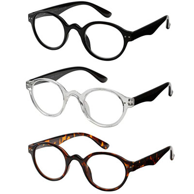 10. Success Eyewear 3-Pair Professor Reading Glasses