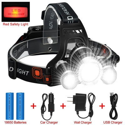 8. ANNAN LED Headlamp Flashlight Kit