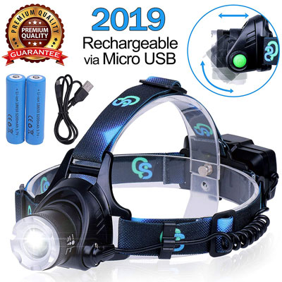 10. QS USA Rechargeable Headlamp