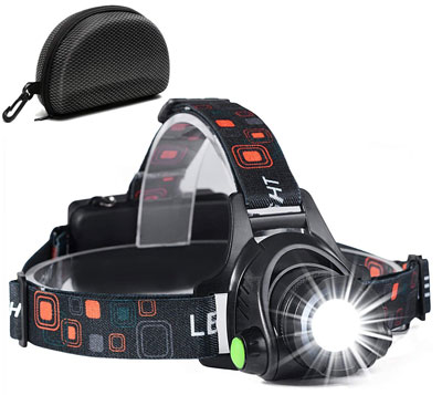 6. Cobiz NEWEST Ultra Bright Headlamp Flashlight