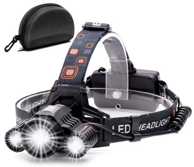 3. Cobiz 6000 Lumen LED Work Headlight