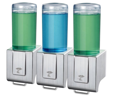 8. ToiletTree Deluxe Soap Triple Dispenser