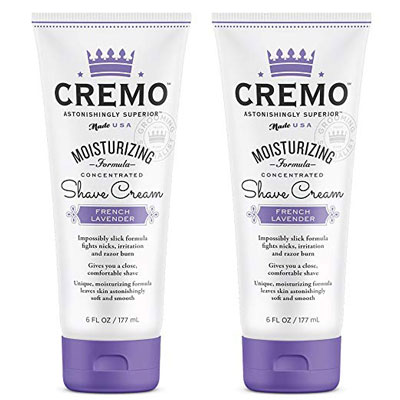 2. Cremo Lavender French Moisturizing 6Oz Shave Cream