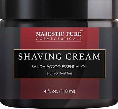 6. Majestic Pure Sandalwood Women Shaving Cream