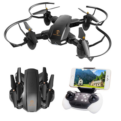 7. T TOPVISION Quadcopter RC Drone with WiFi FPV HD Camera