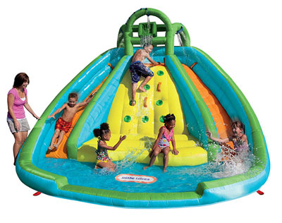 5. Little Tikes Rocky Mountain Inflatable Slide Bouncer