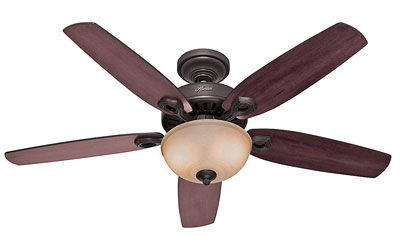 1. Hunter 53091 52-Inch 5-Blade Light Ceiling Fan