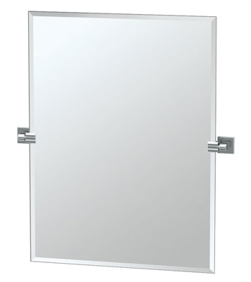7. Gatco 4059S Frameless Chrome Rectangle Mirror