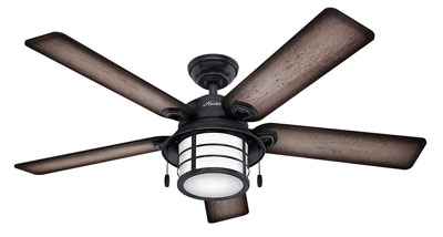 "10. Hunter 59135 54"" Ceiling Fan with Five Reversible Blades"
