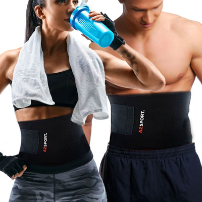 6. AZSPORT Adjustable Ab Sauna Belt