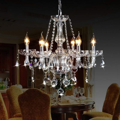 7. Ella Fashion CRYSTOP Crystal Candle Chandeliers