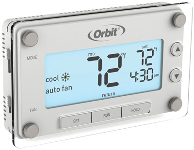 9. Orbit Clear Comfort Programmable Thermostat (83521)