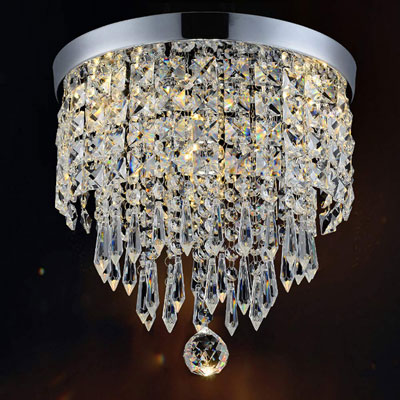 2. Hile Lighting KU300074 Modern Chandelier Crystal, 1 Light