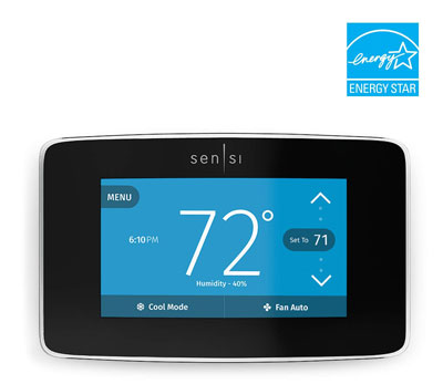 6. Emerson Sensi Touch Wi-Fi Smart Thermostat with Color Touchscreen