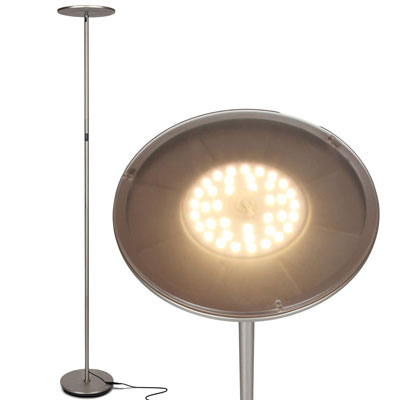 2. Brightech Torchiere Sky LED Uplight Floor Lamp