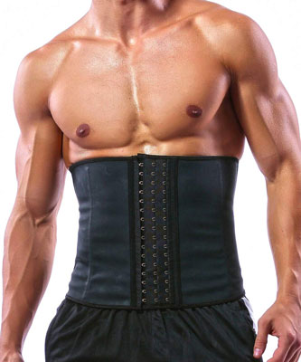 10. GainKee 100% Latex Men Waist Trainer Corsets for Fitness