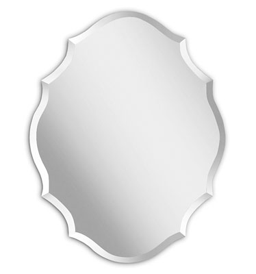 6. Mirror Trend Frameless Emma-Shaped Mirror