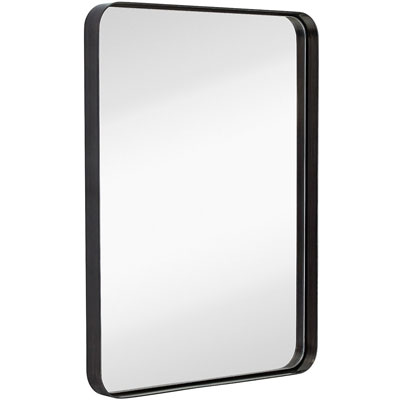 4. Hamilton Hills Rounded Contemporary Wall Mirror