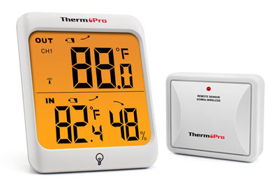 8. ThermoPro TP63 Wireless Indoor Outdoor Thermometer
