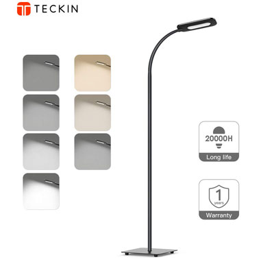 9. T Teckin 3-Color Standing LED Floor Lamp