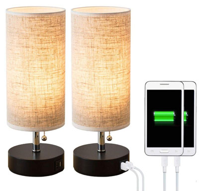 8. Lifeholder Table lamp for Bedroom, Living Room or Office (2 Packs)