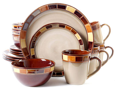 2. Gibson Elite Casa Estebana 16 Piece Dinnerware Set
