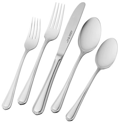 8. J.A. Henckels International Alcea 65-pc Stainless Steel Flatware Set
